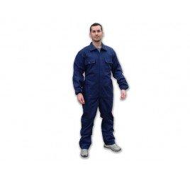 operaio indossa tuta da lavoro blu