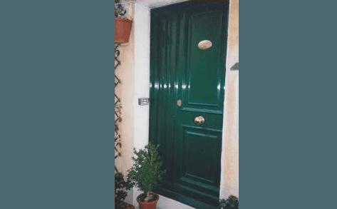 porta blindata  da esterno a due ante asimmetriche
