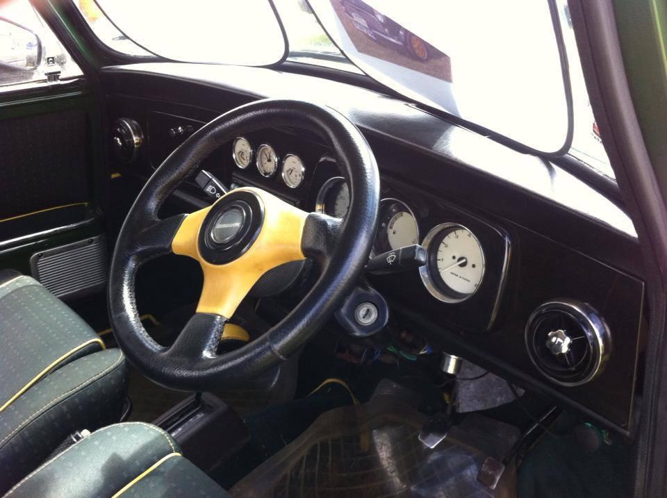 Interior of car at mini restorations at our workshop in Peterborough, PE
