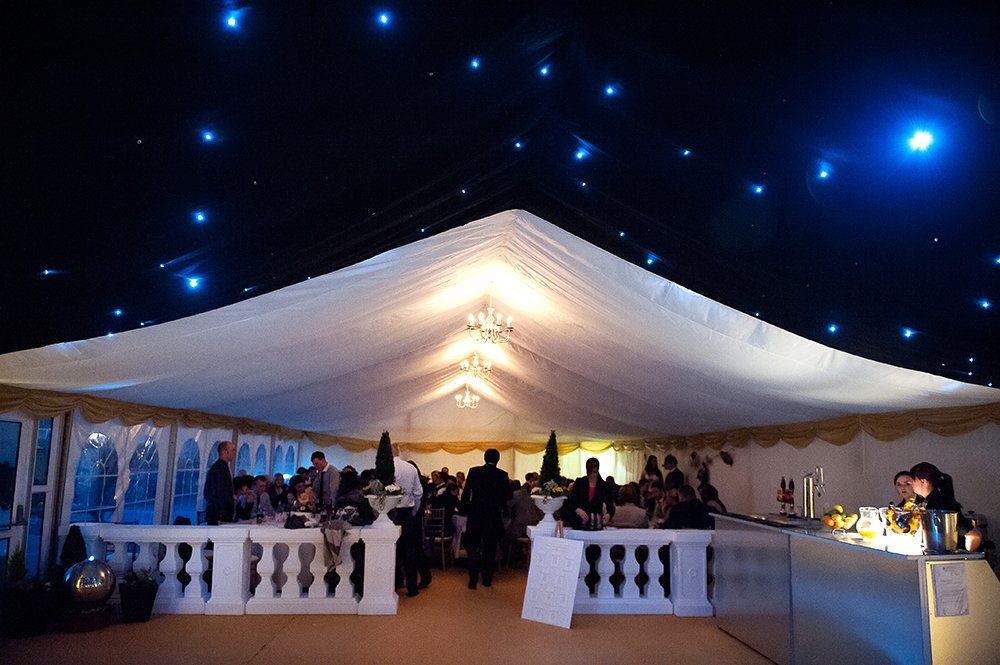 marquee with bar