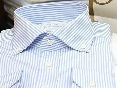 camicia rigata da uomo bg