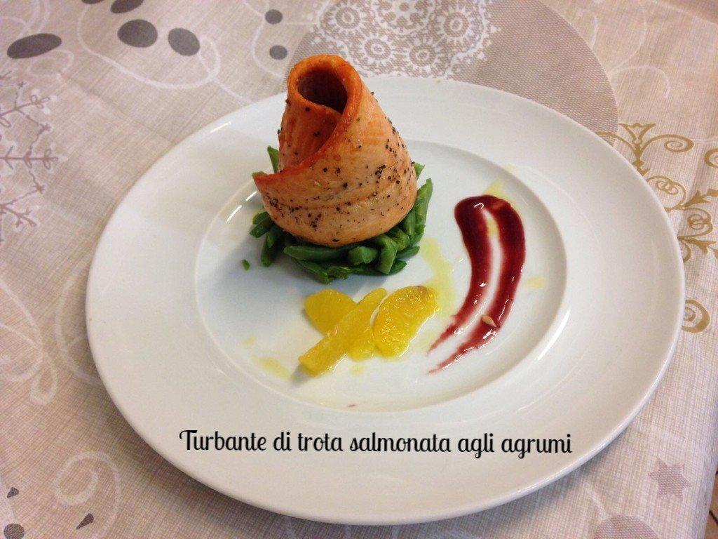 Turbate di trota salmonata agli agrumi
