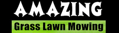 amazing grass lawn mowing and garden maintenance logo