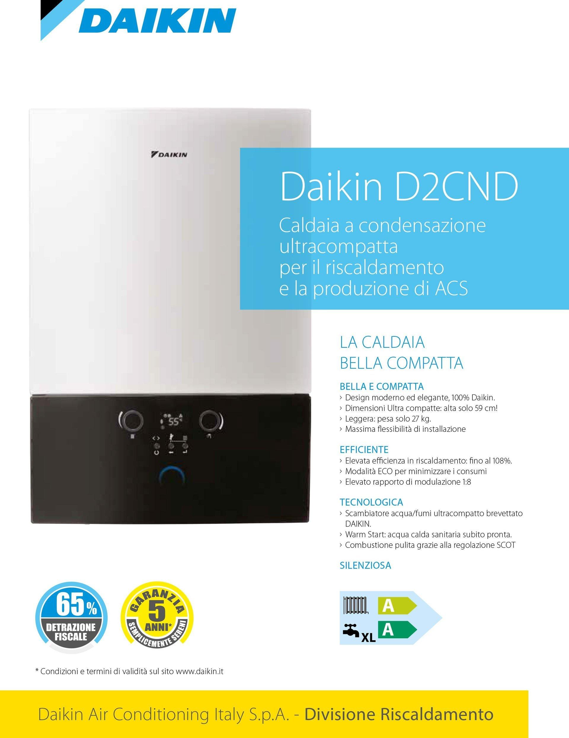 Catalogo caldaia Daikin