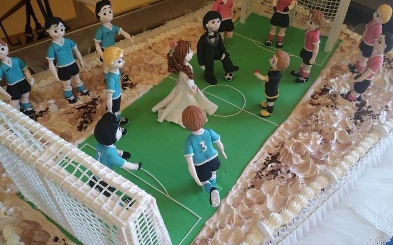 Torta personalizzata a tema calcio