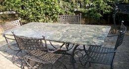 tavoli, sedie, arredamenti in ferro