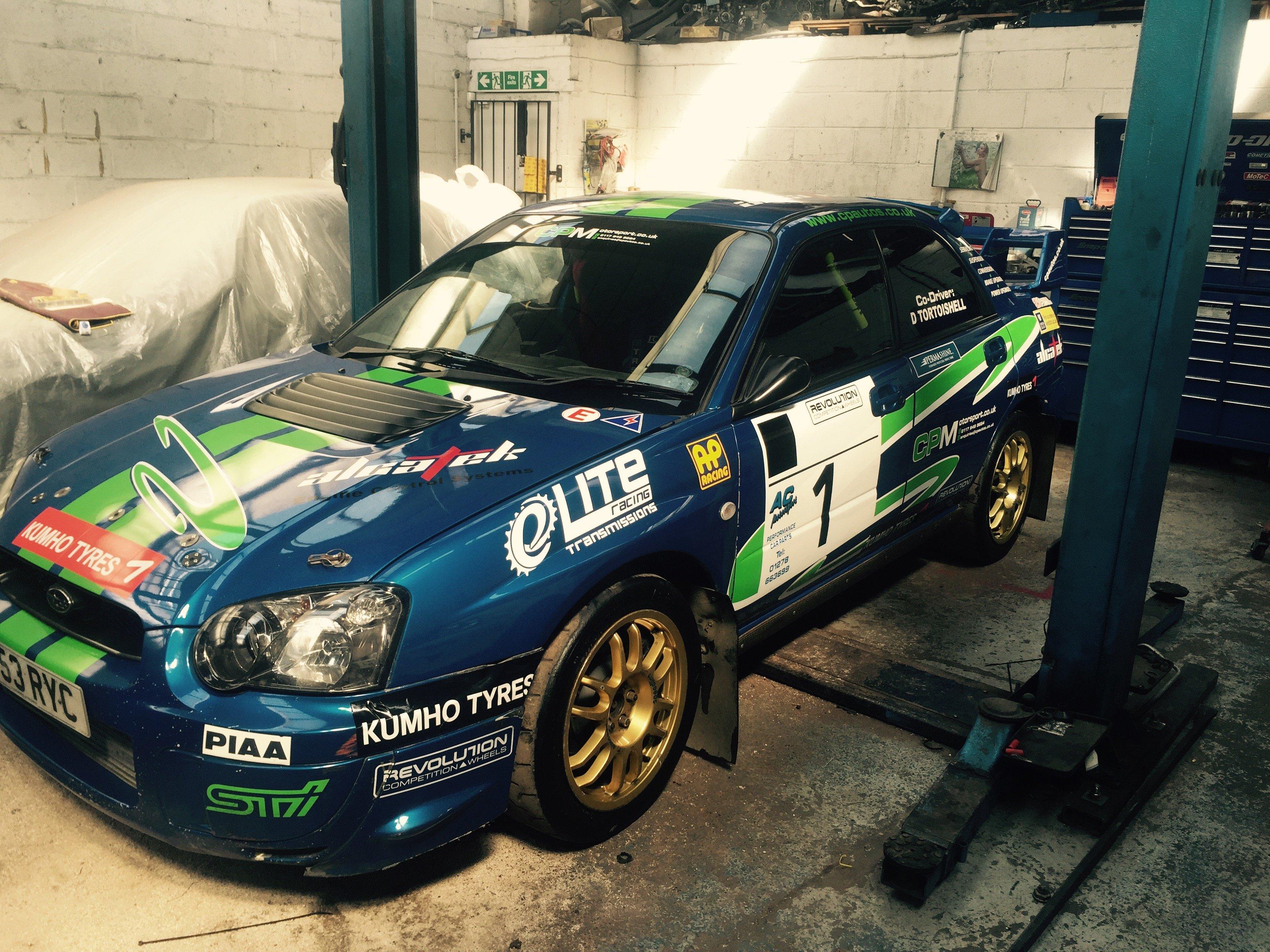 rally car engine checks