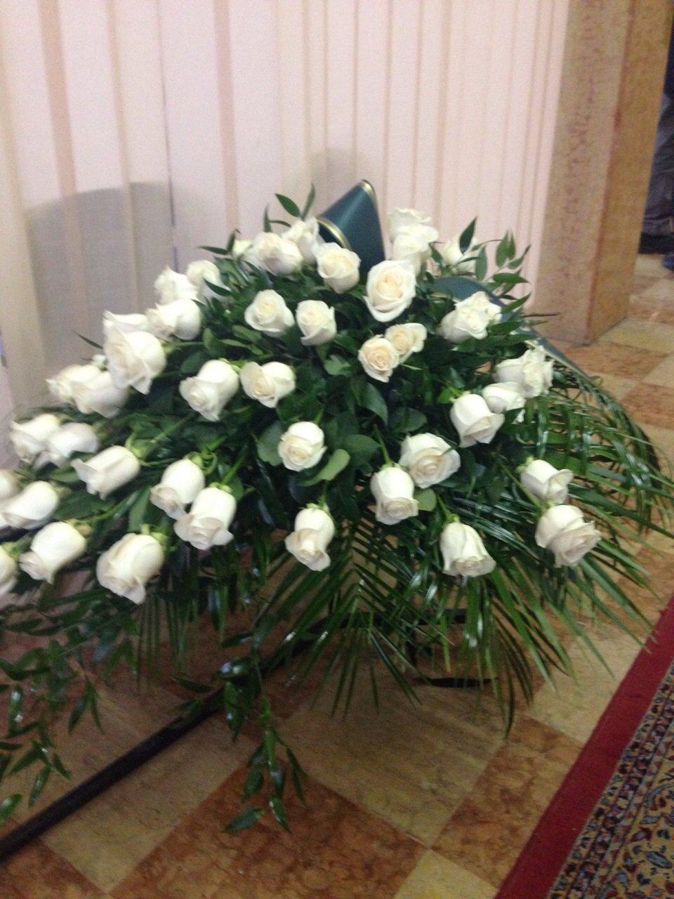 composizione floreale per funerale