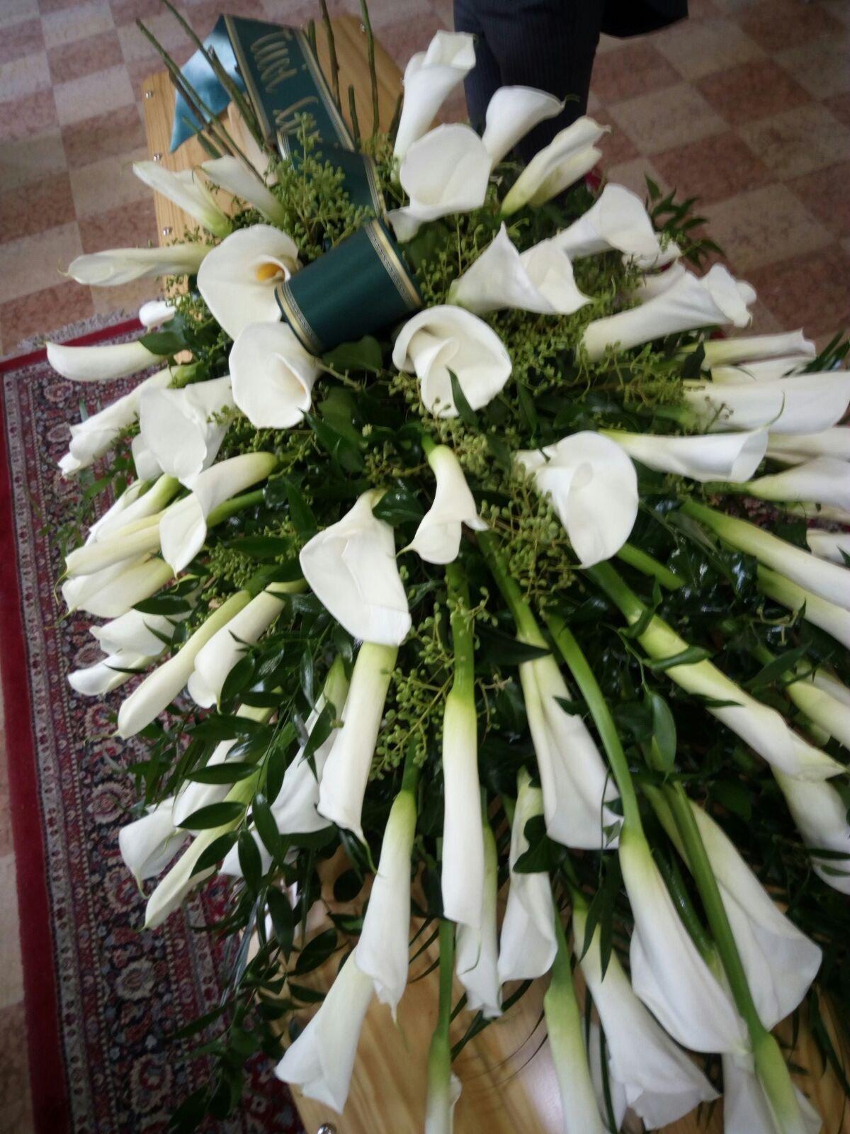 bouquet di calle per funerale