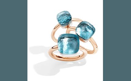 pomellato anelli blue