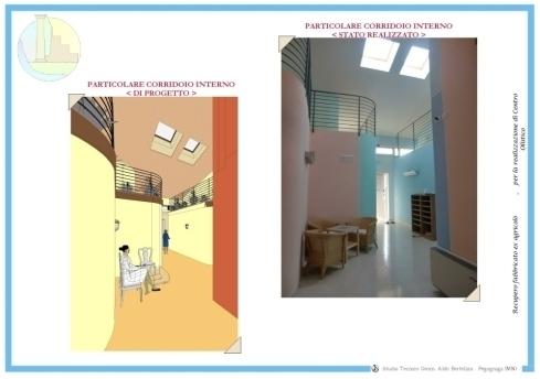 progetto computerizzato e realizzato di una sala d'aspetto