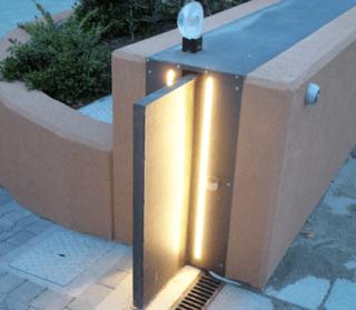 illuminazione cancello