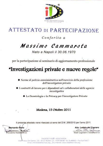 Attestati agenzia investigativa ig