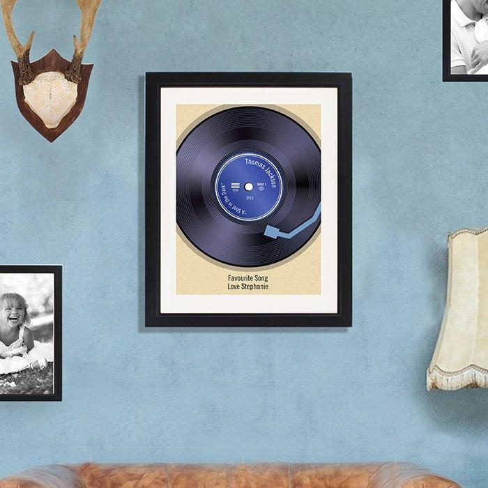 Retro Vinyl Black Poster Frame