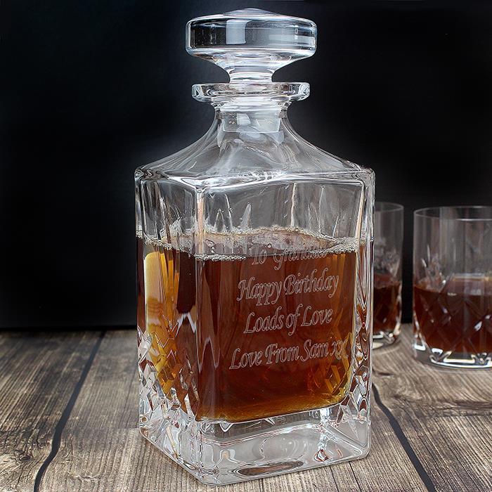 Personalized whisky bottle