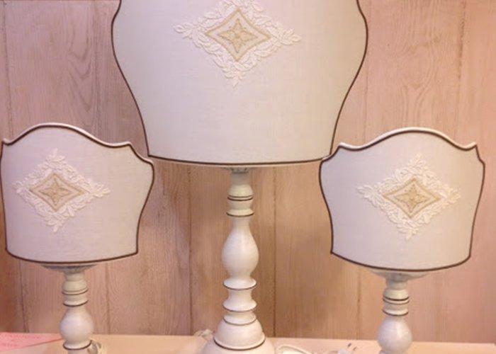 trio di lampade da camera da letto