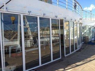 pareti mobili vetro e alluminio