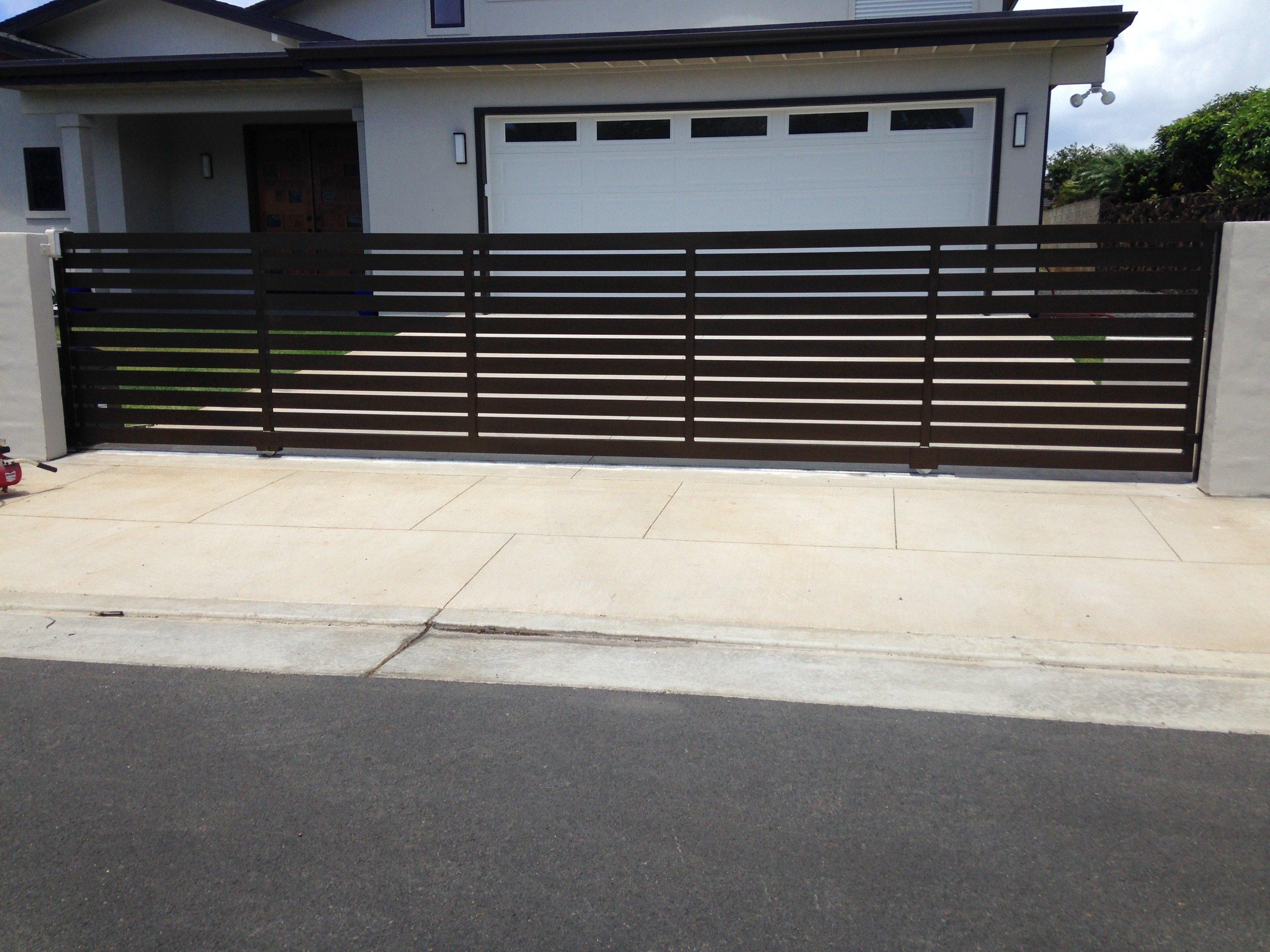 Residential Aluminum Sliding Gate built in Kahala by Arc Designs
