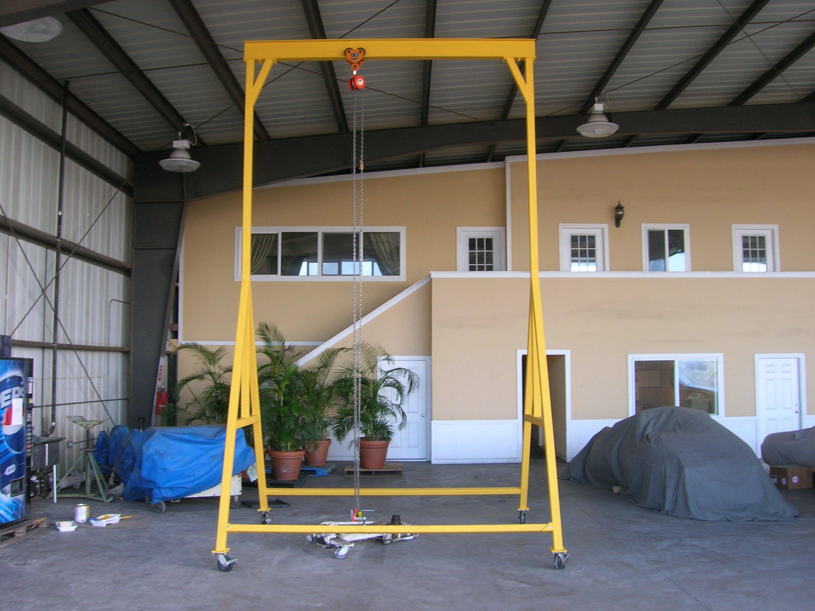 Custom engine hoist built for local airplane technicians near the Honolulu International Airport