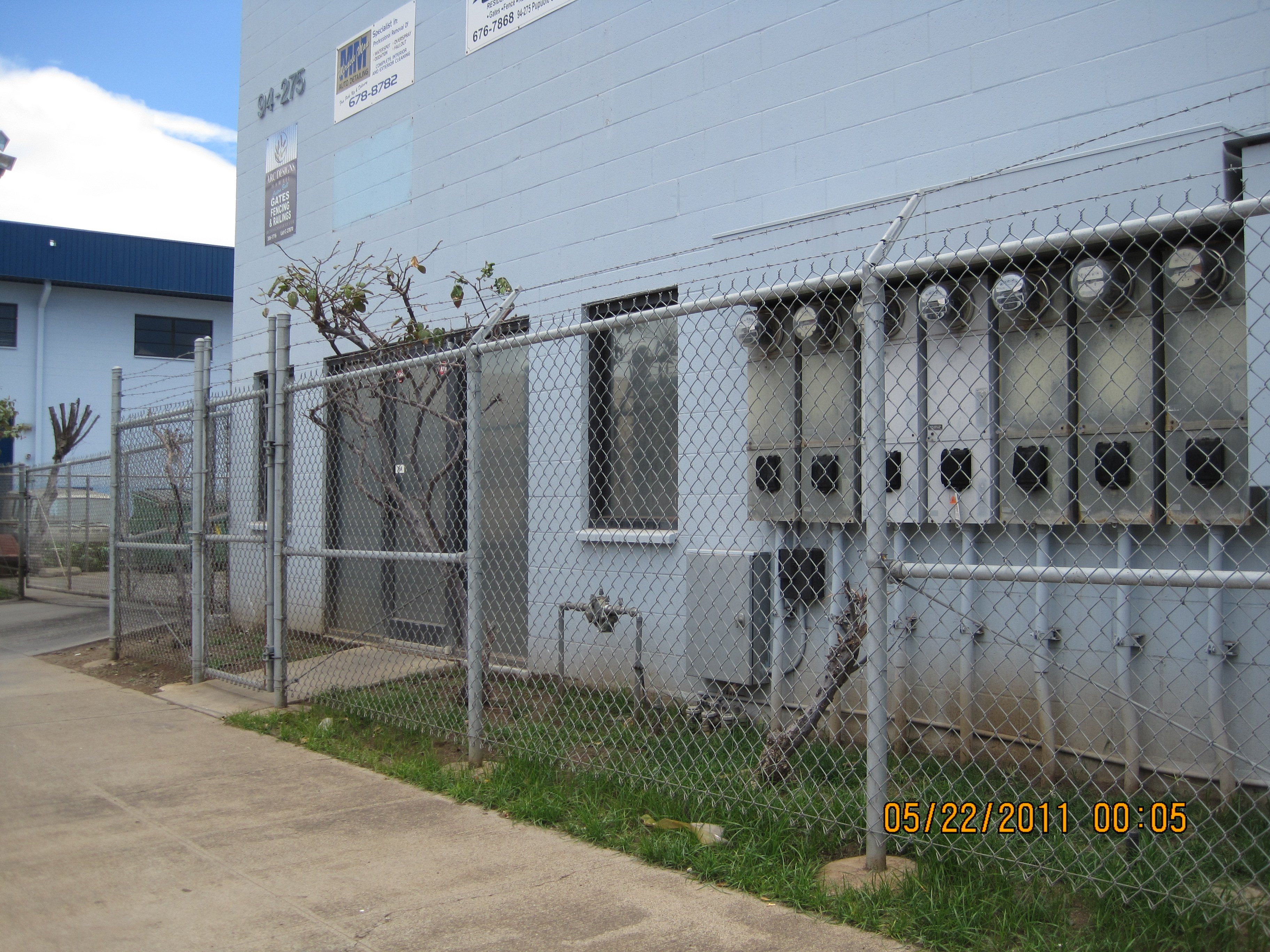 Security chain link fencing for a commercial property in Waipahu, HI