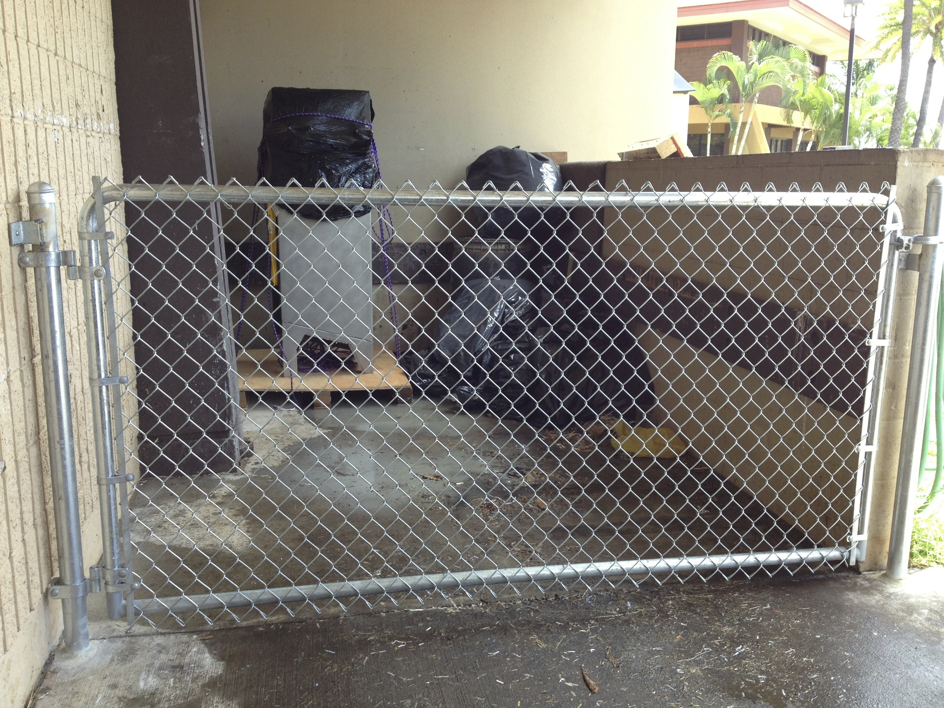 Chain link fencing for Kapiolani Community College