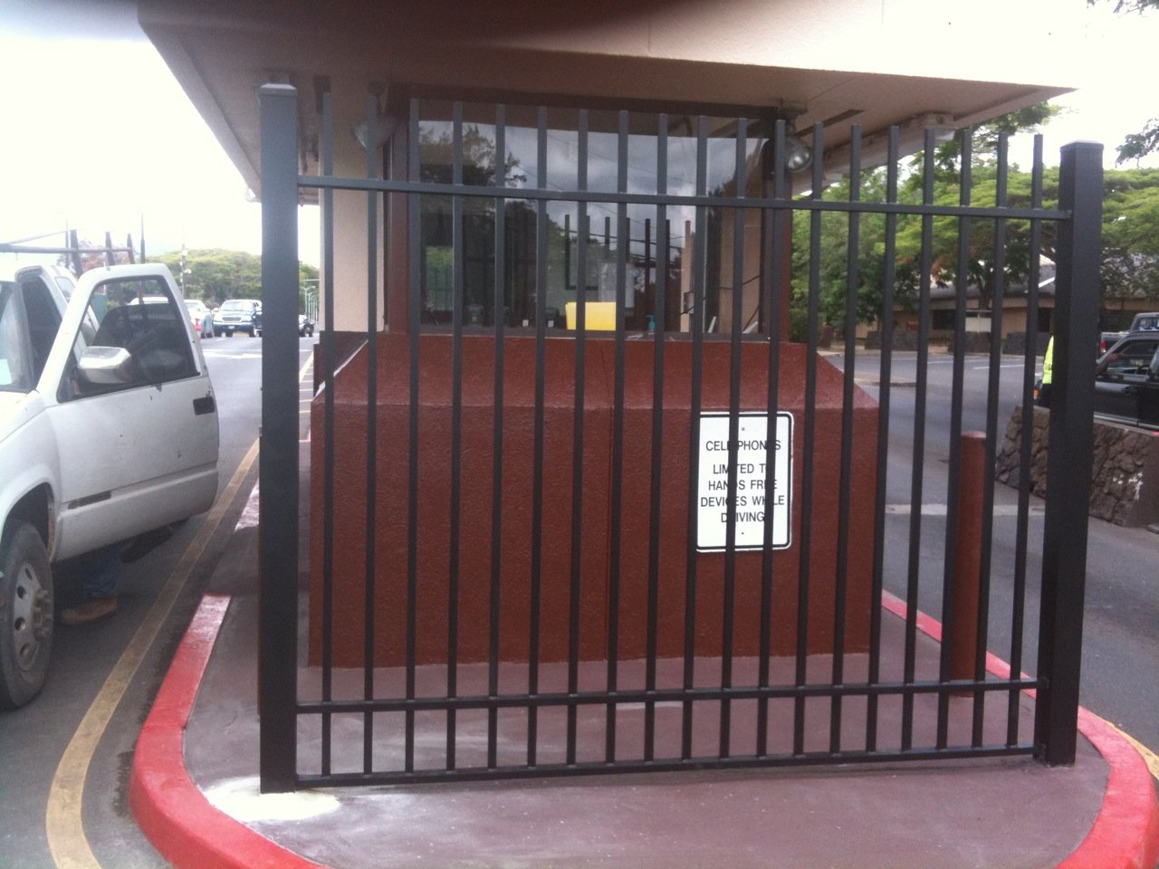 Steel gate panel built at the Schofield Barracks, Fort Shafter, HI