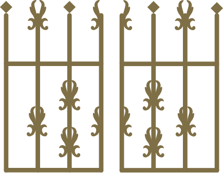 Icon of a wrought iron fence