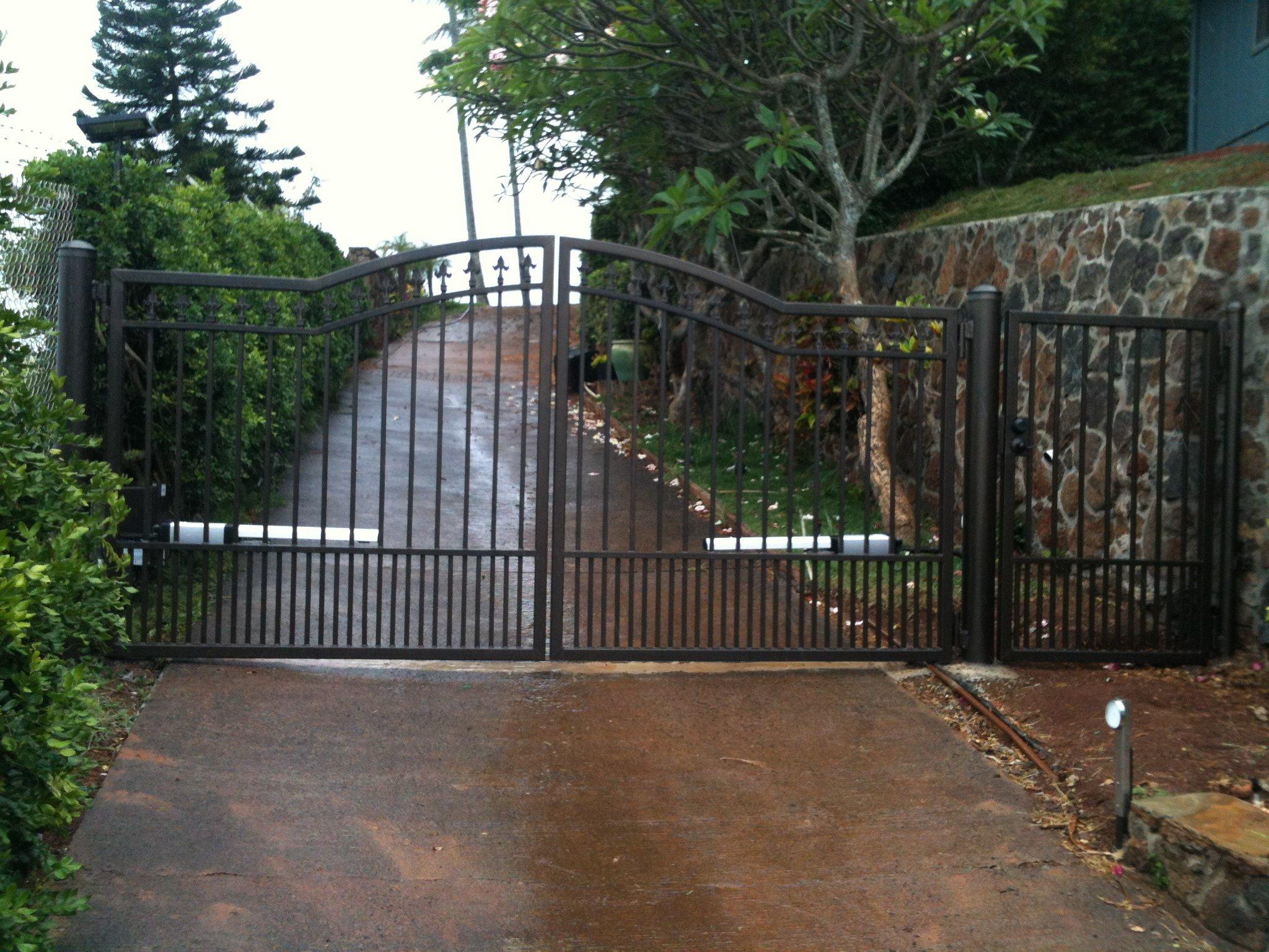 Double swing gate done in East Oahu
