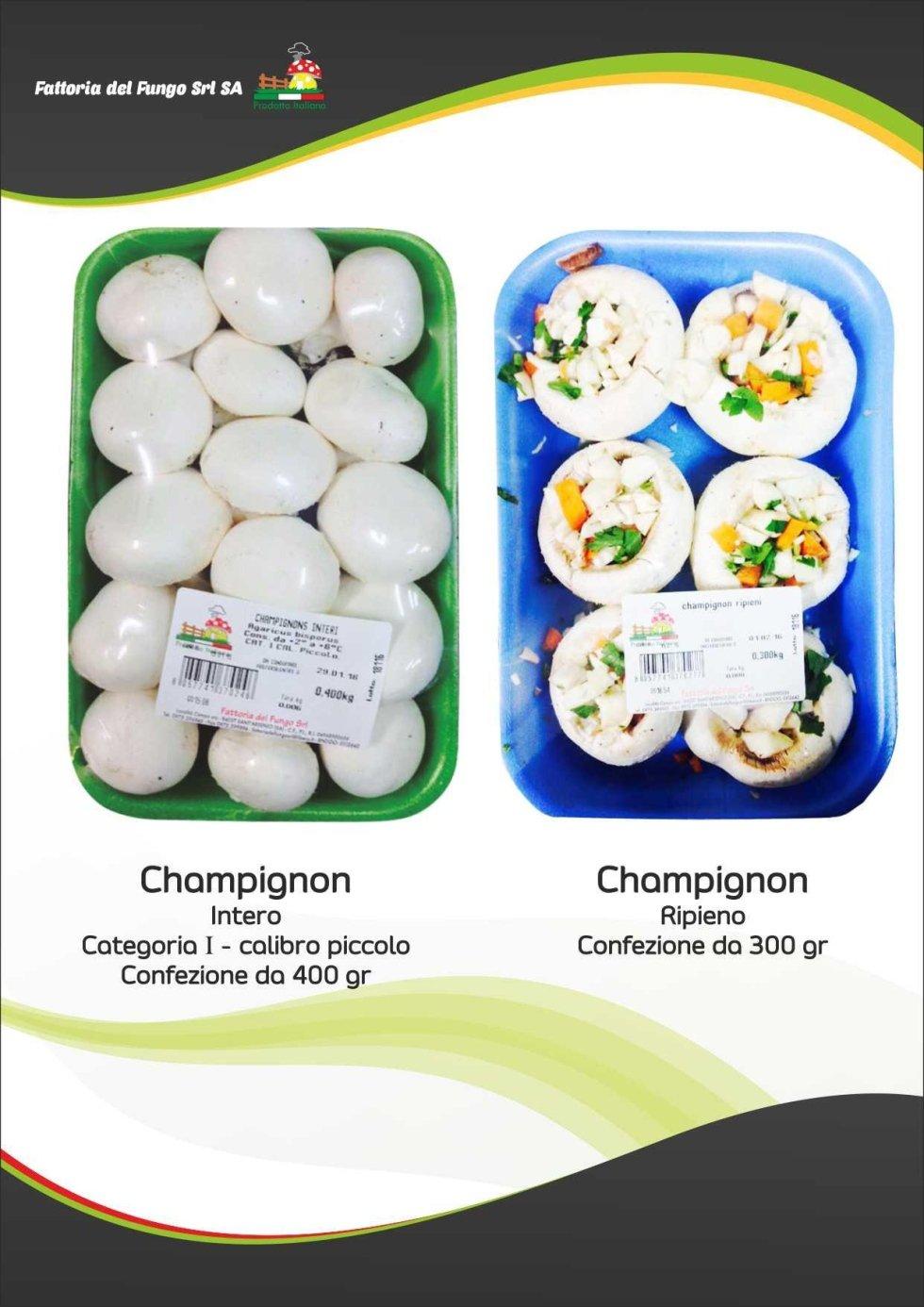 Funghi freschi in vaschetta