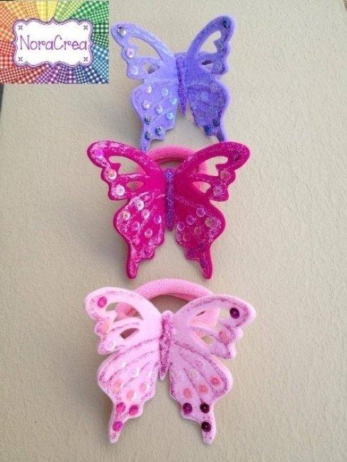 elastici con farfalle