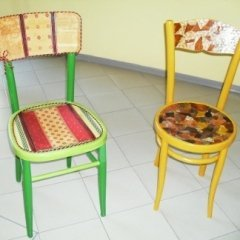 decoupage, sedie, ospiti