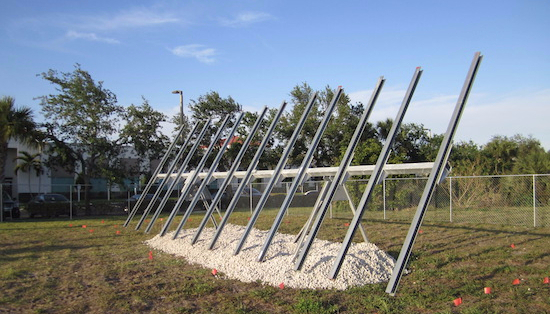 trabant solar single axis horizontal solar tracker front view