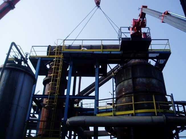 dismantling of industrial equipment