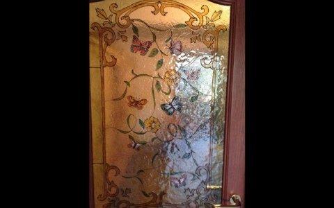 porta vetro farfalle