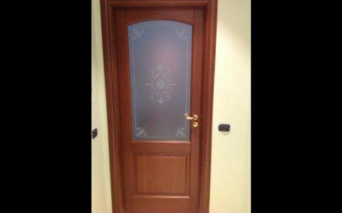 porta vetro ornato