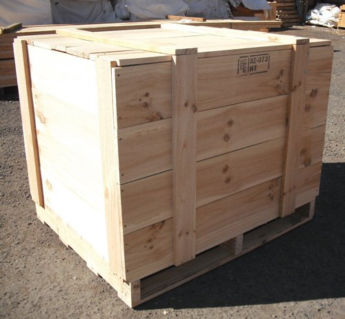 timber pallet and cases