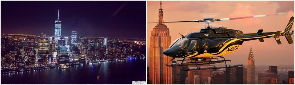 New York by helicopter
