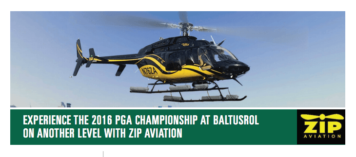 helicopter charter manhattan pga 2016