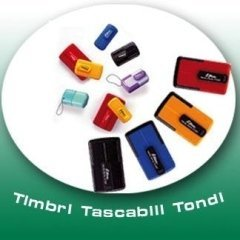 Tascabili tondi Timbro Service Latina