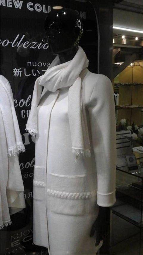 Cappotto invernale bianco