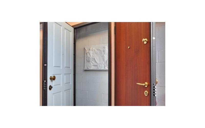 porta blindata legno