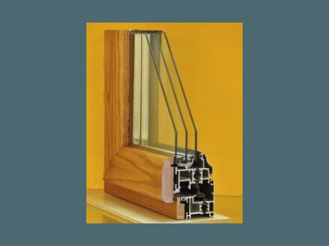 sezione legno alluminio