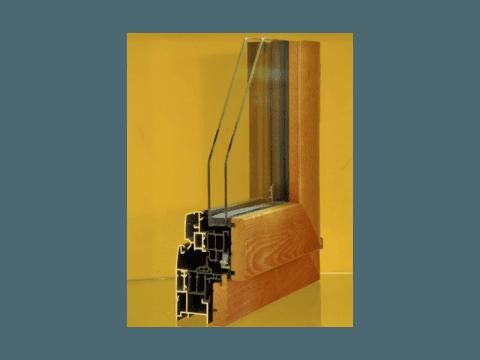 sezione serramento legno
