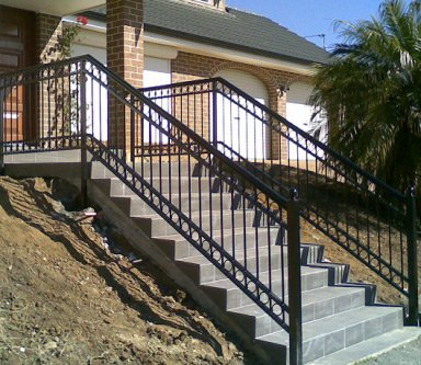 callan wrought iron and steel fabrication entrance staircase