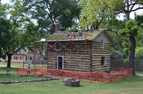 Historic Bethabara Park Log House Construction