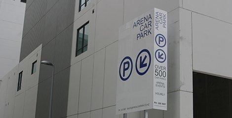 Arena car parking signage