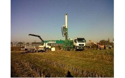 realizzazione pozzi geotermici con macchine pesanti