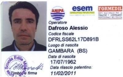 patentino trivellazione Alessio Dafroso