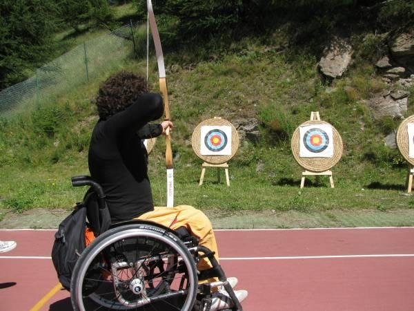 tiro con arco per disabili