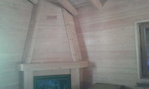 camino in legno
